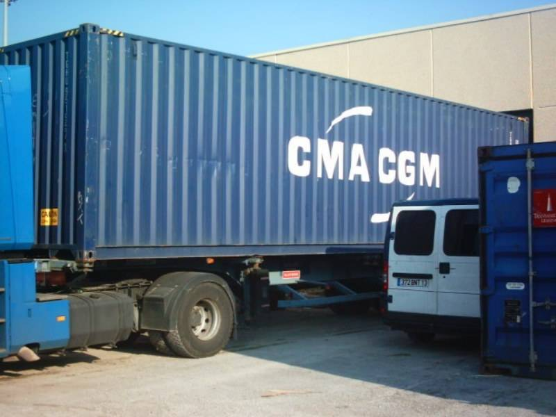 Export maritime par container in the world